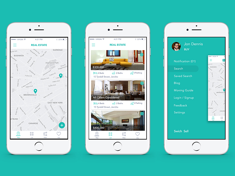 real estate app uplabs