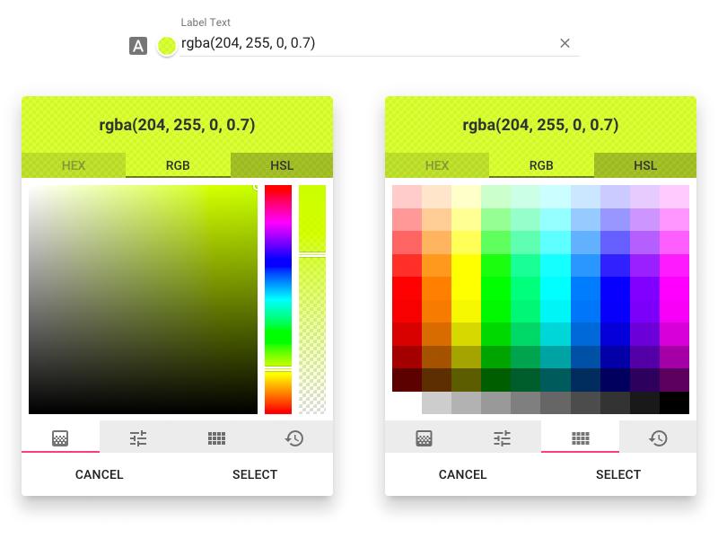 Angular Material Color Picker - UpLabs