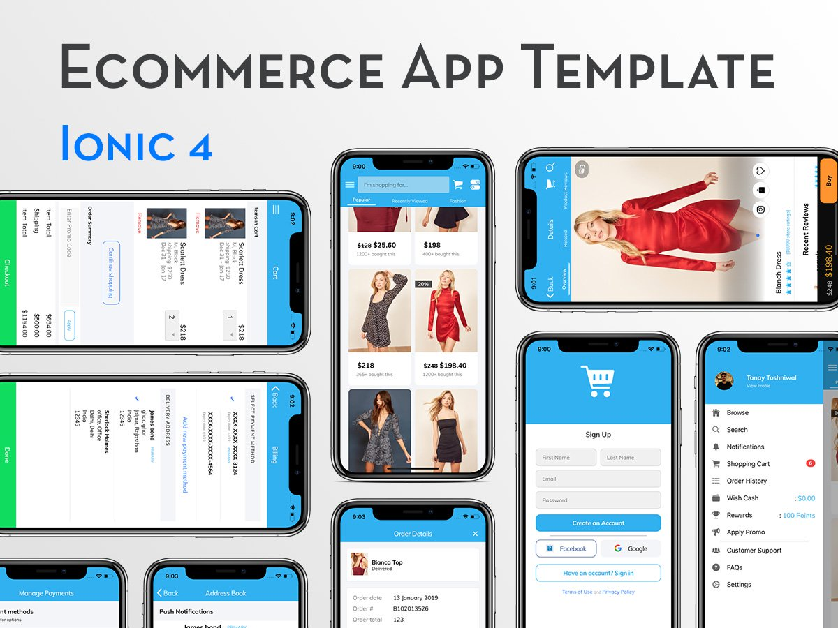 Ionic 4 E Commerce App Template Uplabs