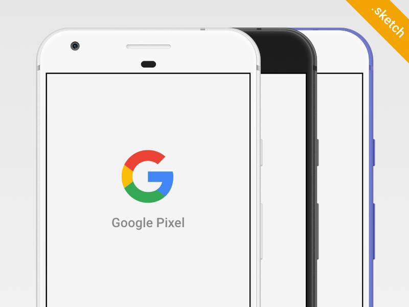 Free Google Pixel Sketch mockup - UpLabs