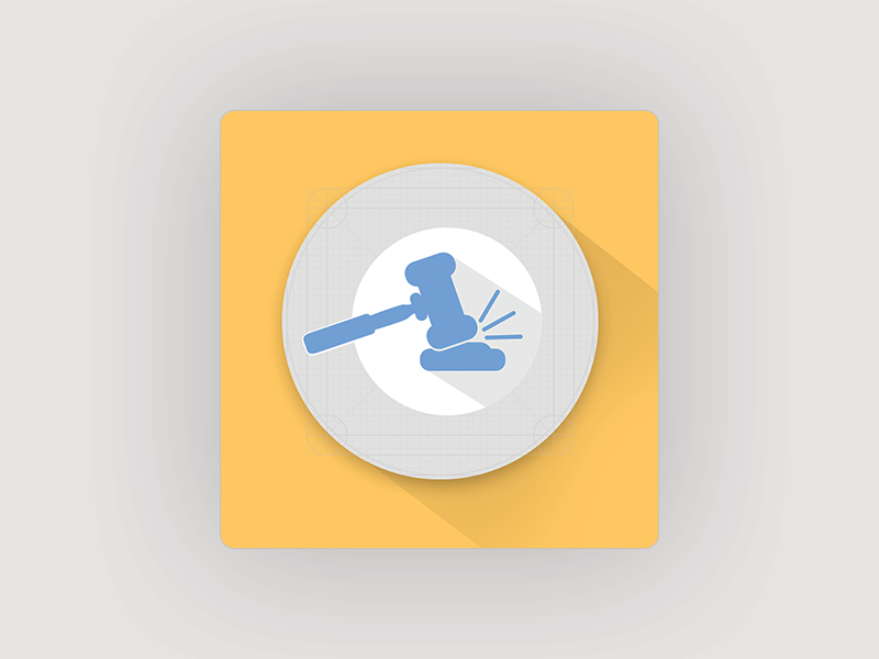Auction Icon for Mobile App - Uplabs