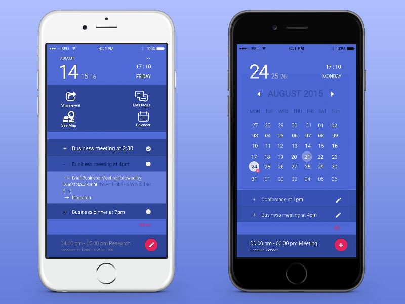 Mobile schedule app