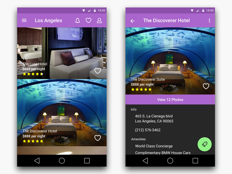 Hotel Search App Android Uplabs