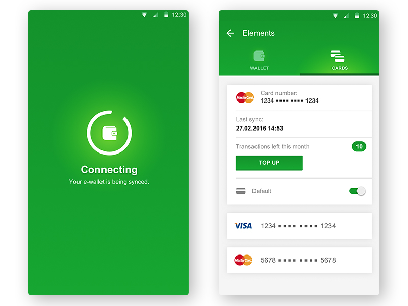 Android E Wallet Concept Up