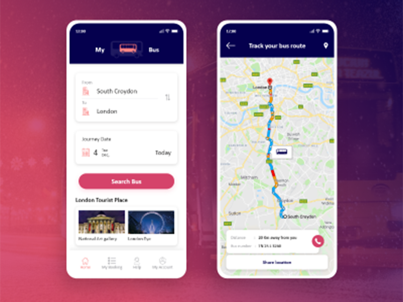 Online Bus Ticket Booking App Search By Muzli
