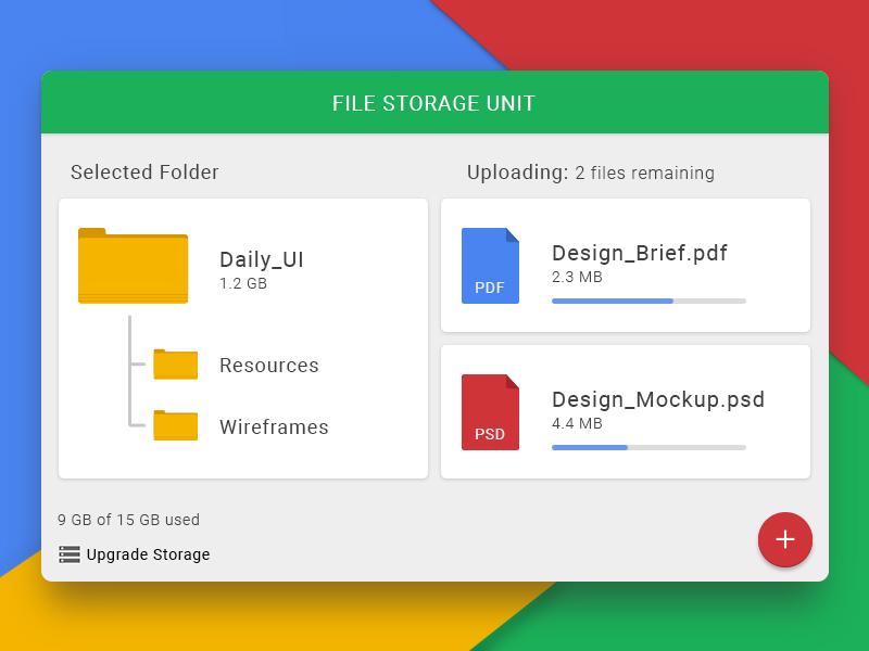File Storage Widget - UpLabs