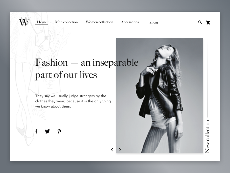Fashion Website Uplabs