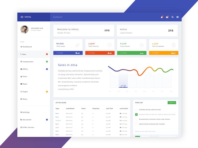 Infinity - Responsive Web App Kit - SiteUp