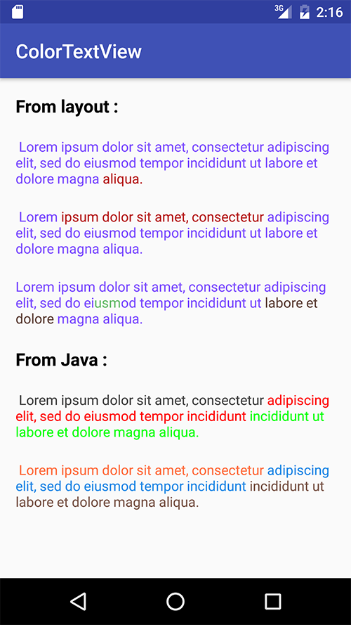 Color text view - Uplabs