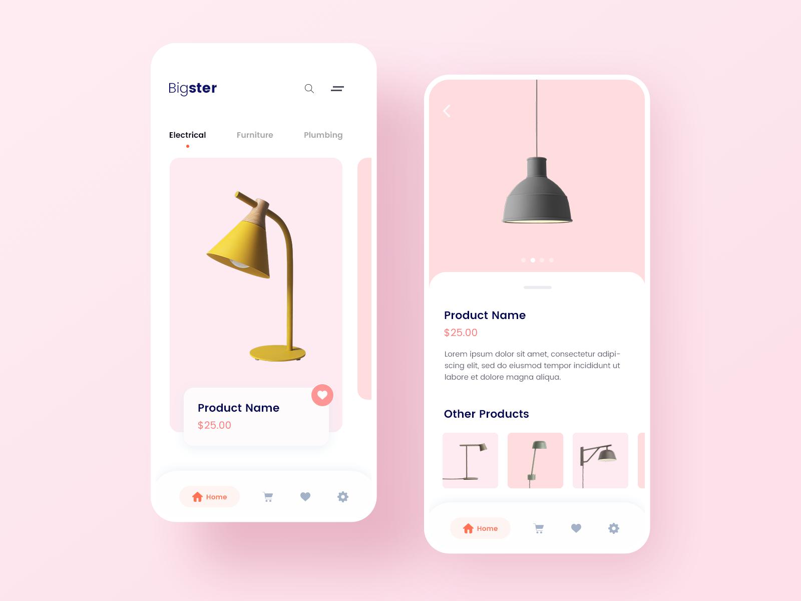 concept design - online shop mobile app | searchmuzli