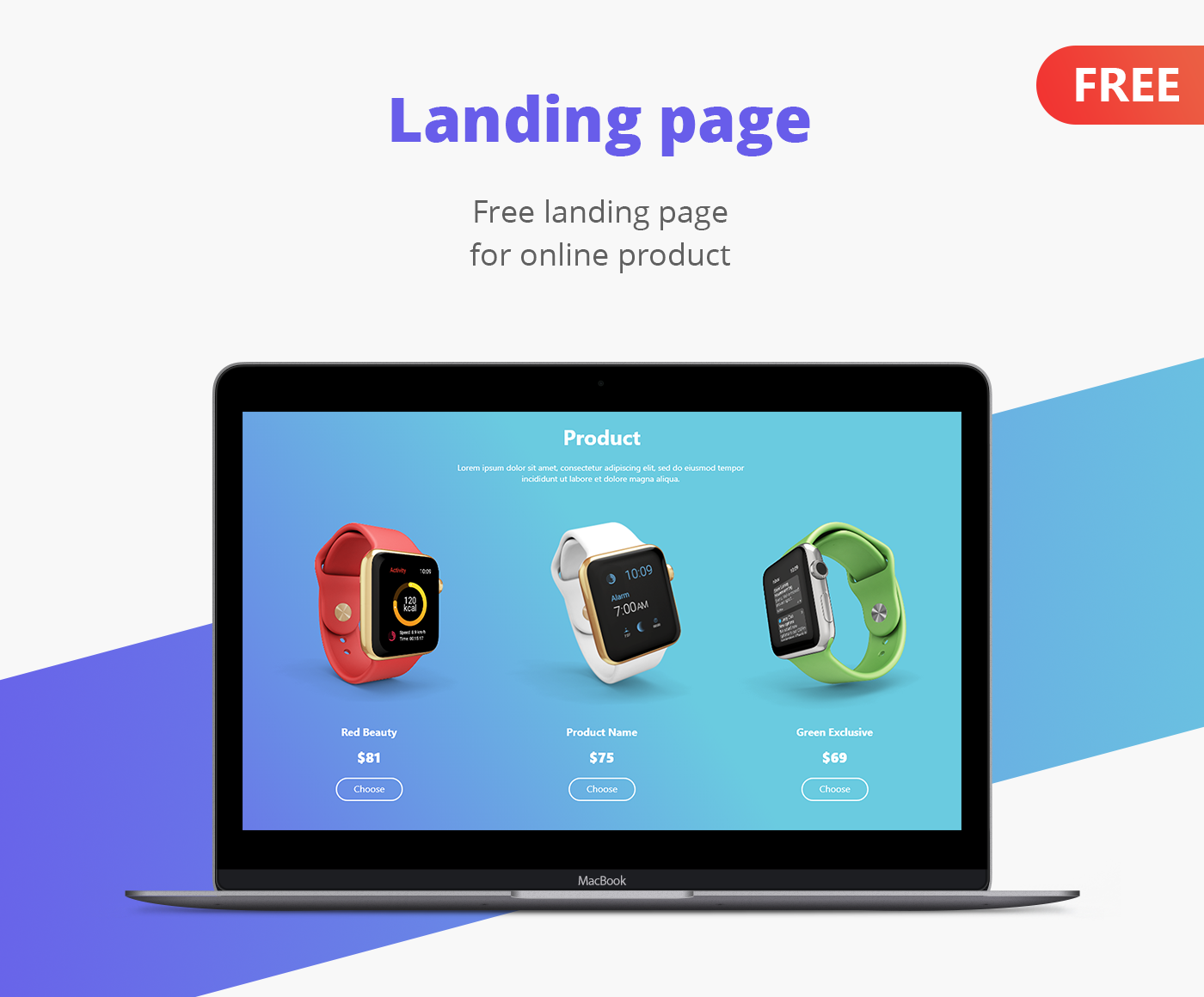 Landing Page template for product (Adobe XD) - UpLabs