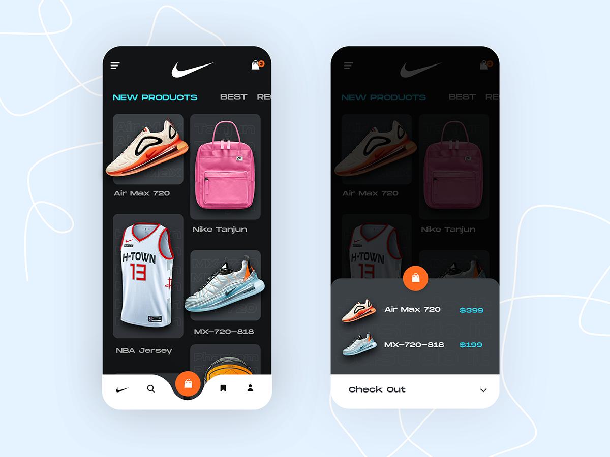 esperanza Continuar Melodramático  Nike app UI Exploration | Search by Muzli