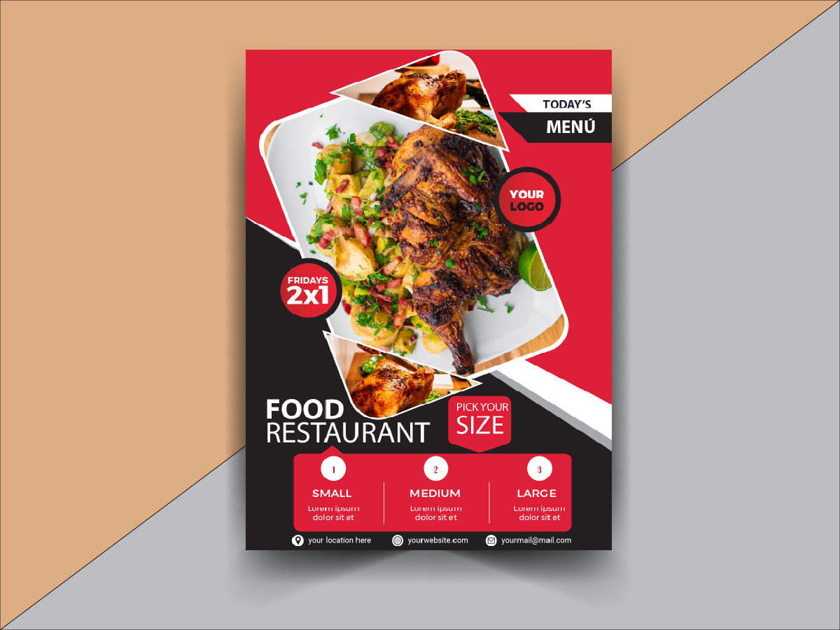 Food Restaurant Flyer Template Search By Muzli