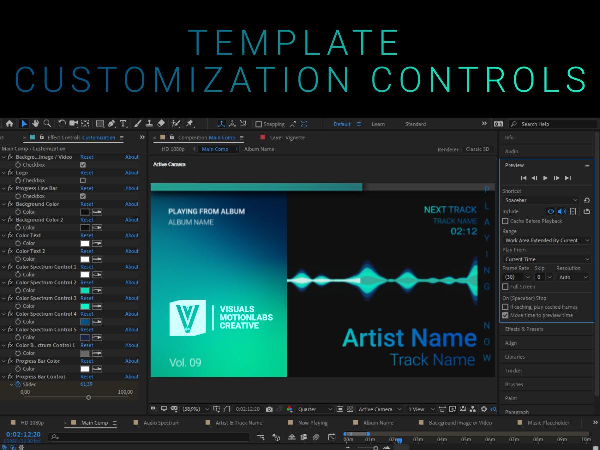 Audio Spectrum / Music Visualizer Concept S9 (Harmonic - UpLabs