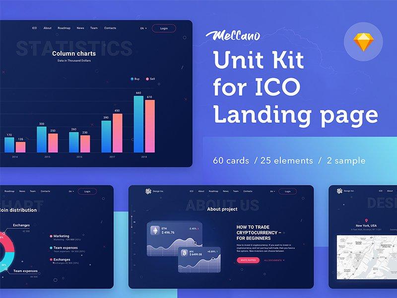 虚拟货币后台可视化数据展示web界面展示UnitKit