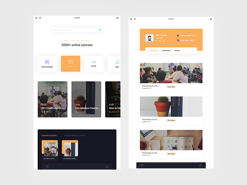 Online learning app - UpLabs