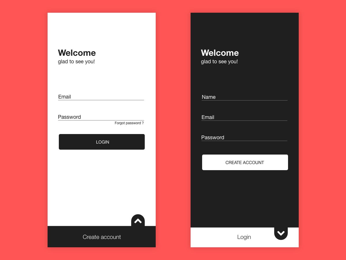 Login Signup UI design   UpLabs