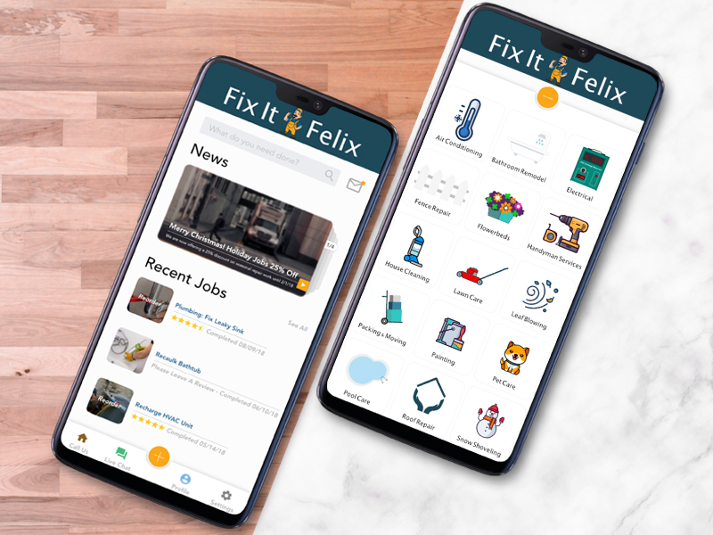 Fix It Felix Handyman App - UpLabs