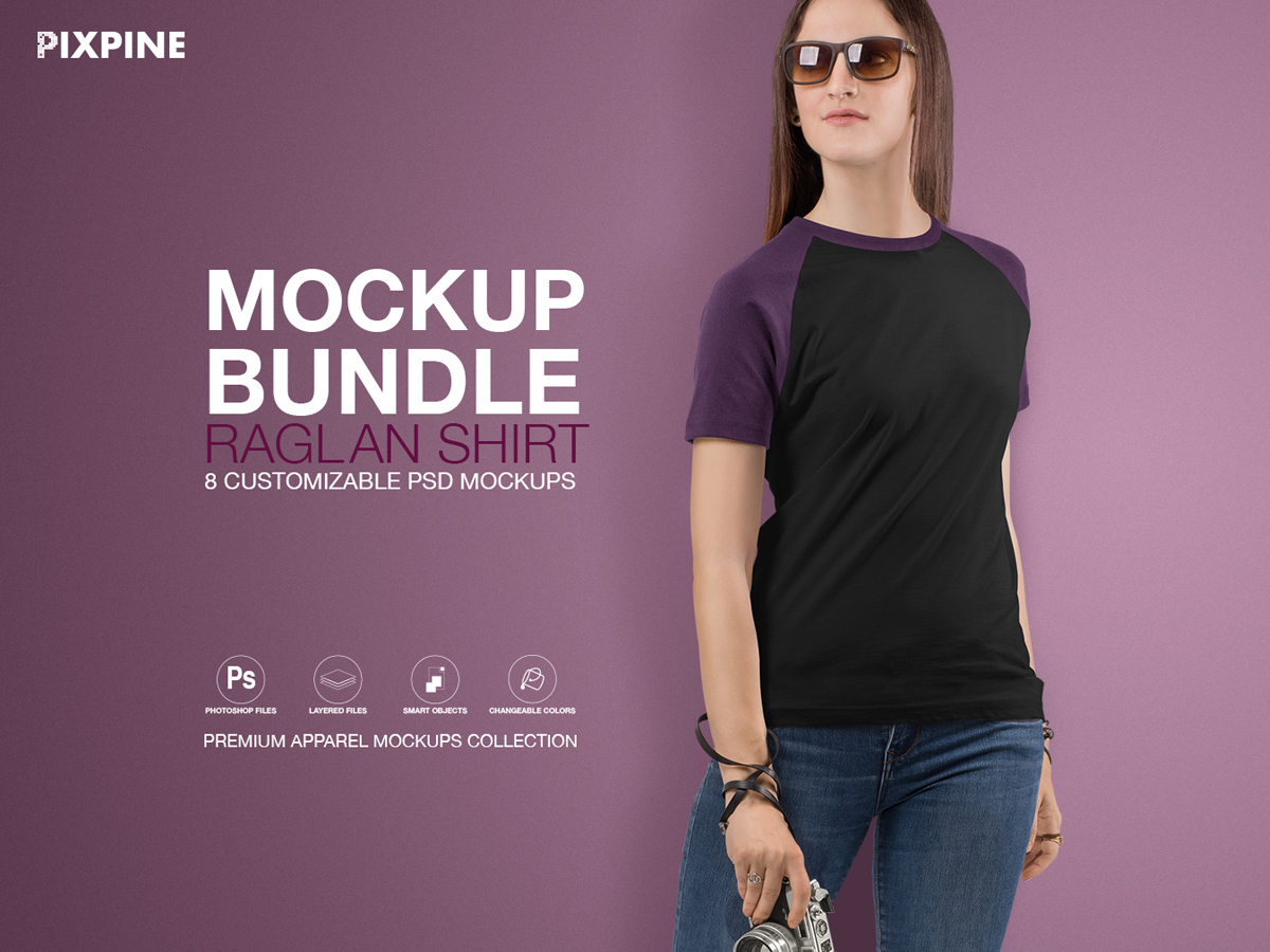 T Shirt Mockups Bundle Women S Raglan Shirt Search By Muzli