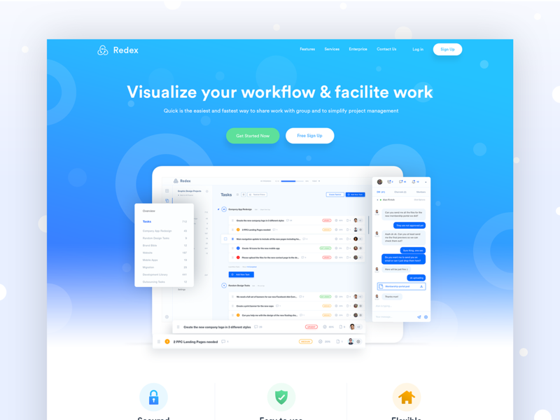Project Management Landing Page Design Uplabs