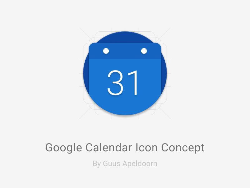 Google Calendar Icon Concept Uplabs