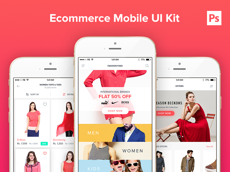 Ecommerce Mobile UI Kit - UpLabs