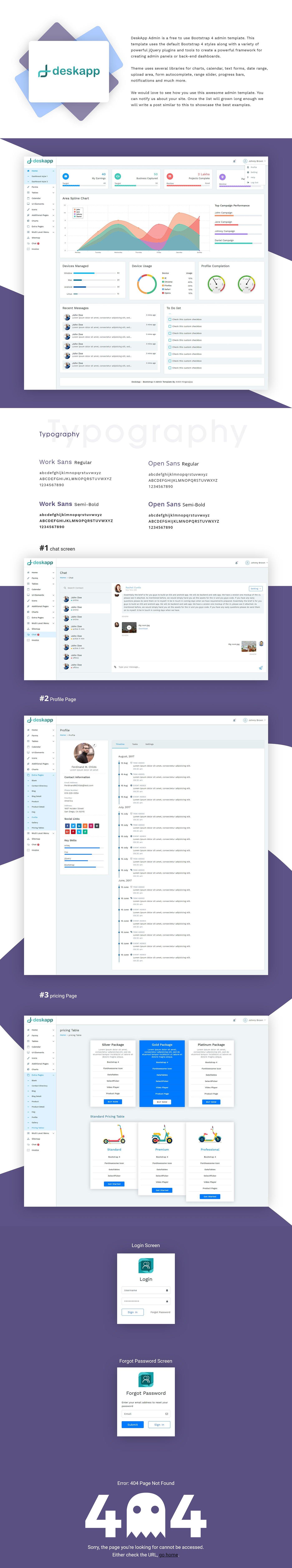 DeskApp Bootstrap 4 admin template - UpLabs
