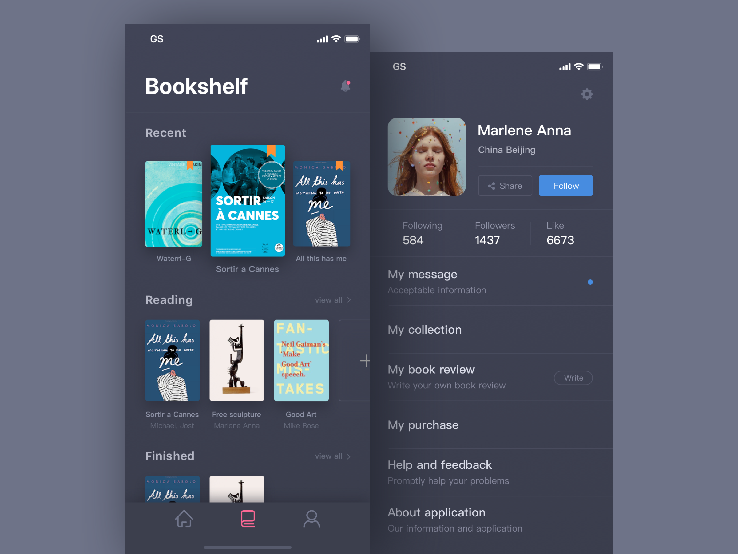 Bookshelf App - UpLabs