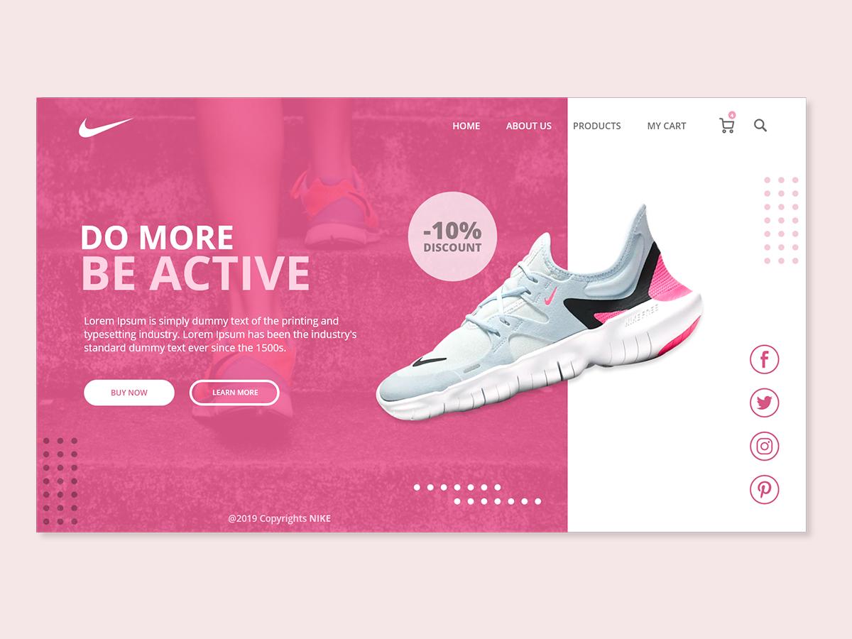 Nike Women's Sneakers Landing Page