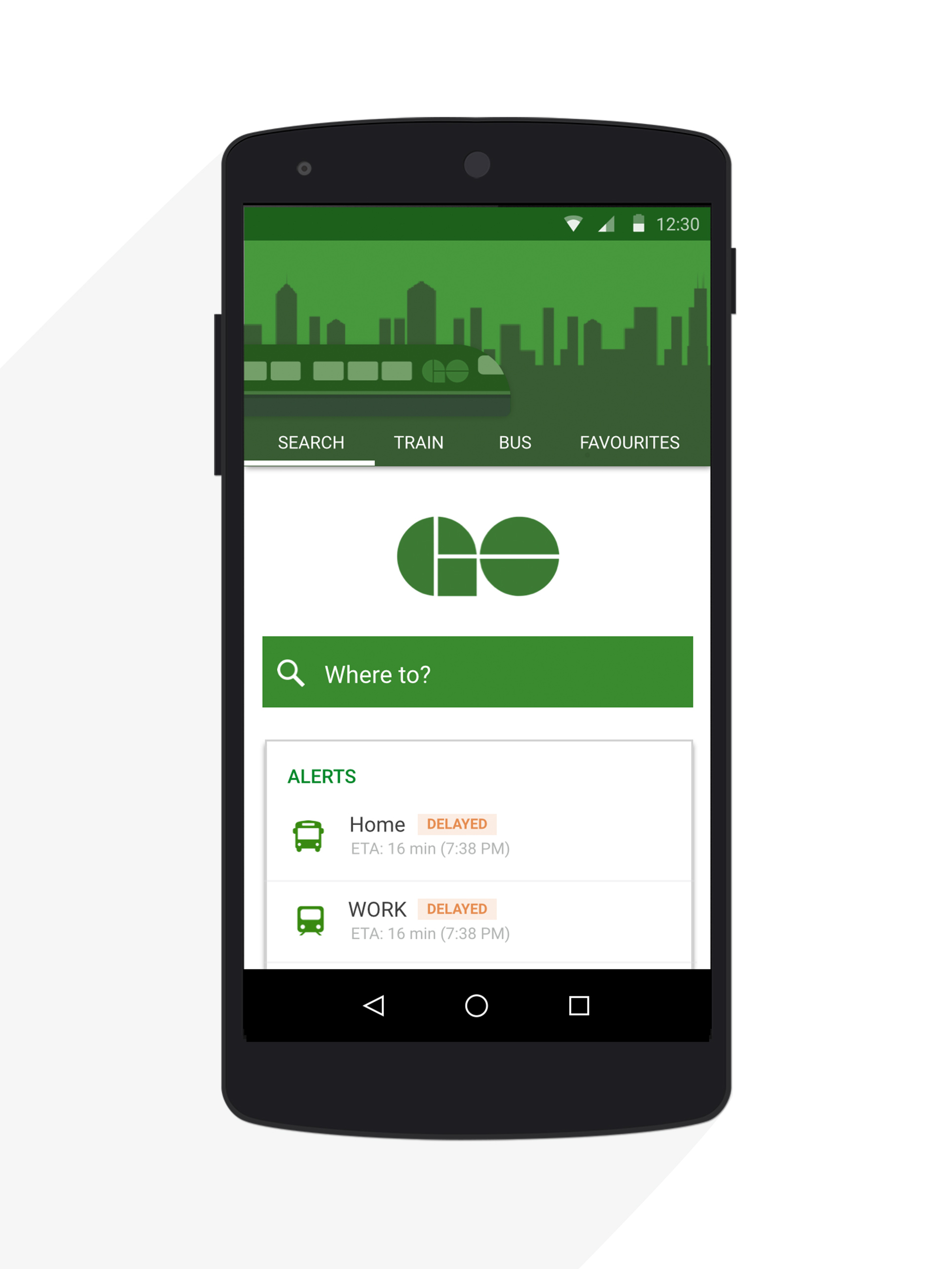 Go Transit App Redesign For Android Materialup