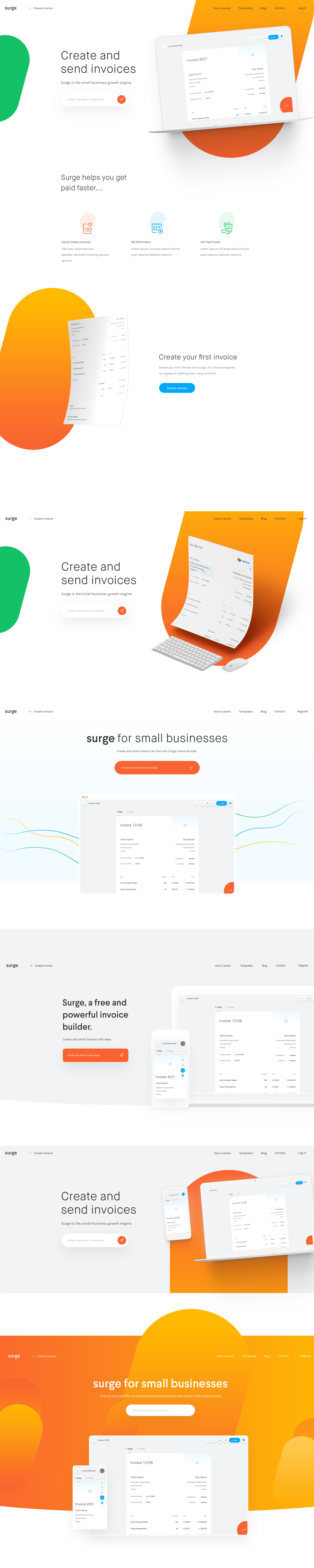 Surge Homepage   Uplabs  Invoice Builder