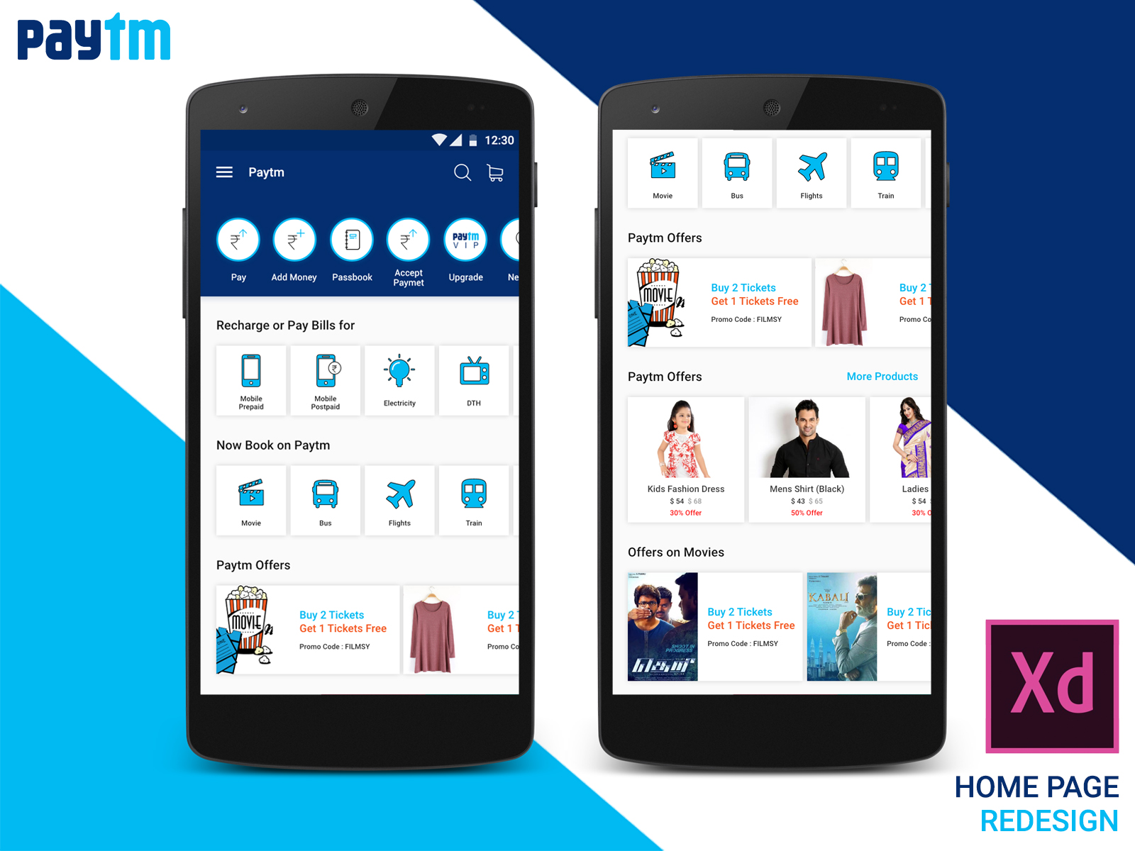 Paytm Home Page Concept Design - Uplabs