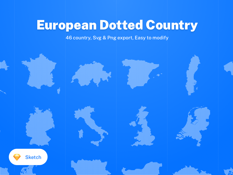 46 European Dotted Country