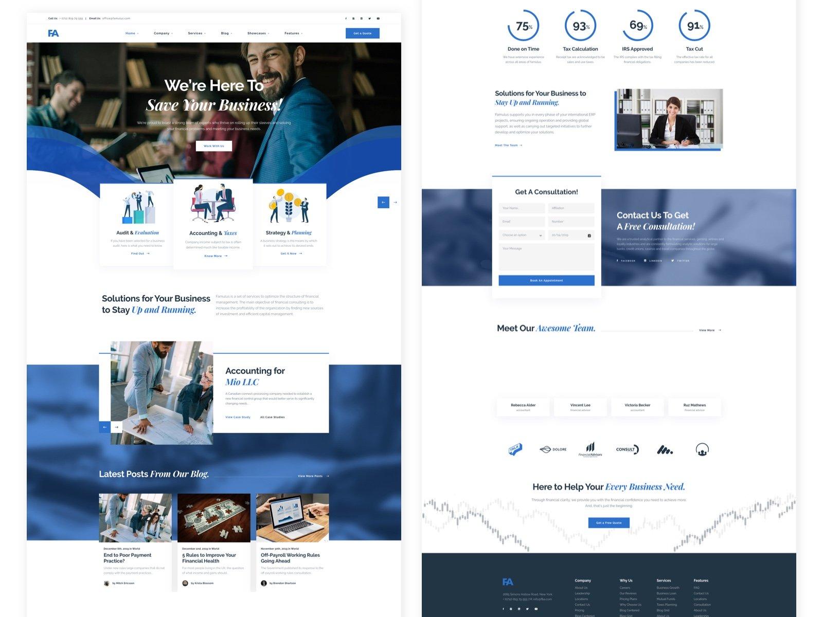 Famulus - Finance WordPress - UpLabs