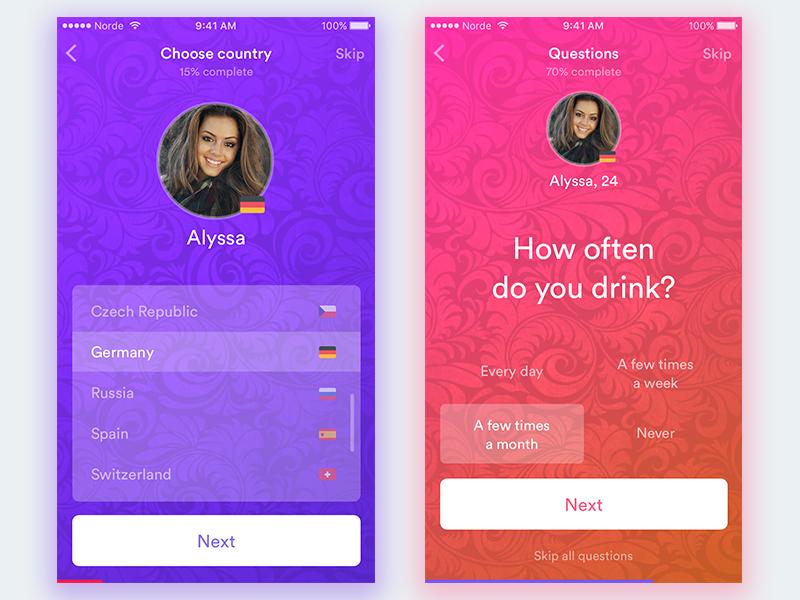dating app registration