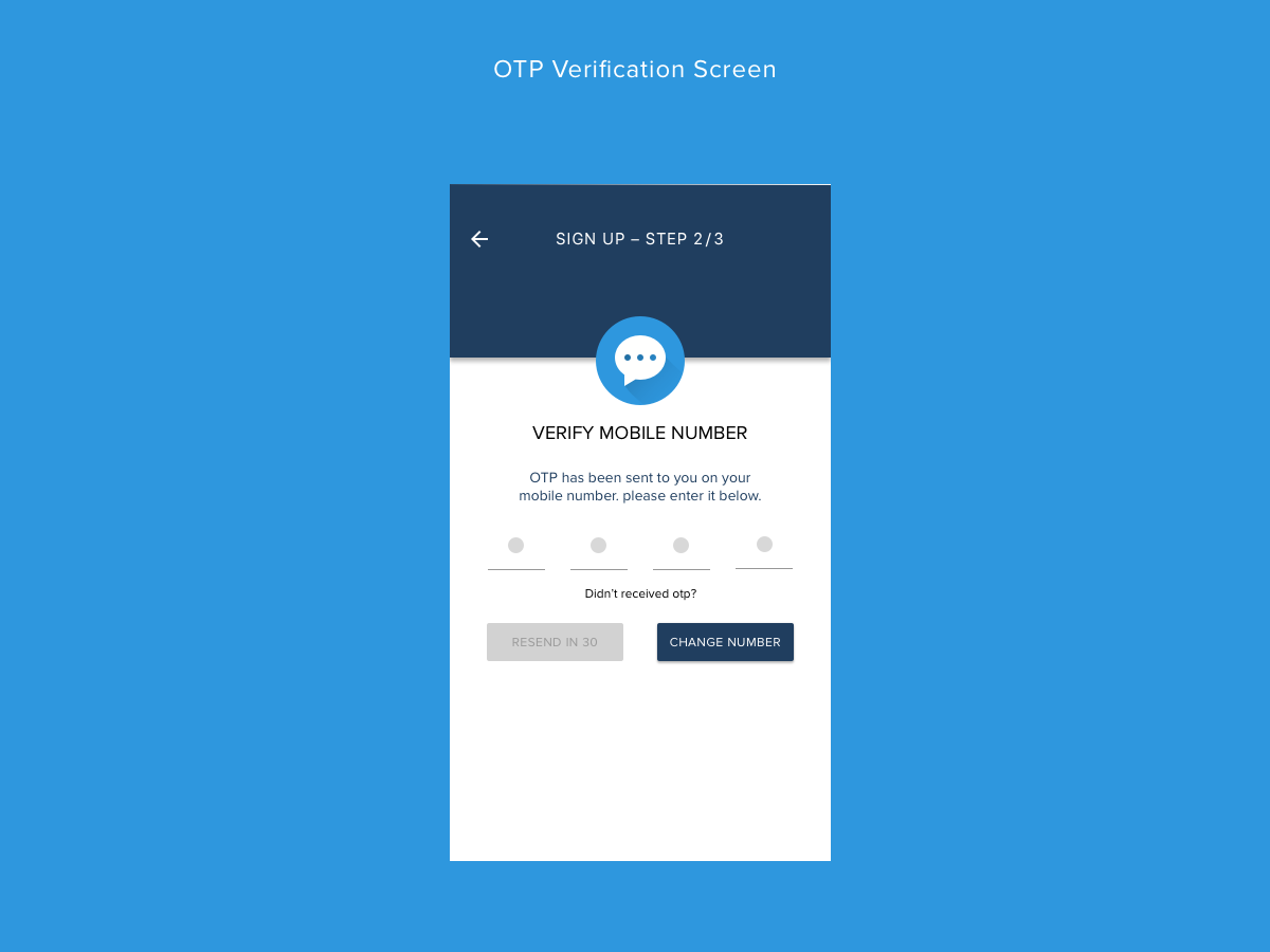 Otp Verification Screen Concept Uplabs
