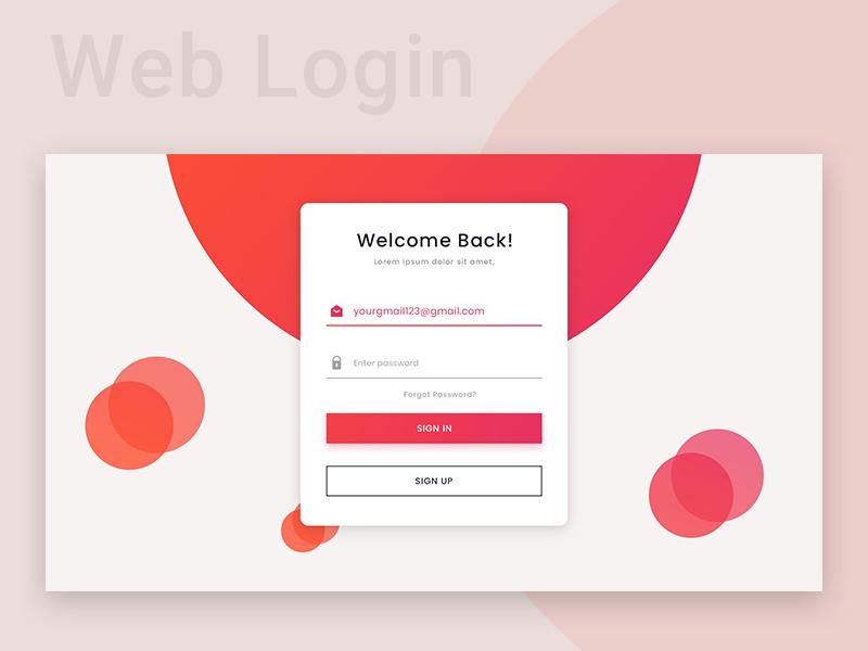 Web Login Page Search By Muzli