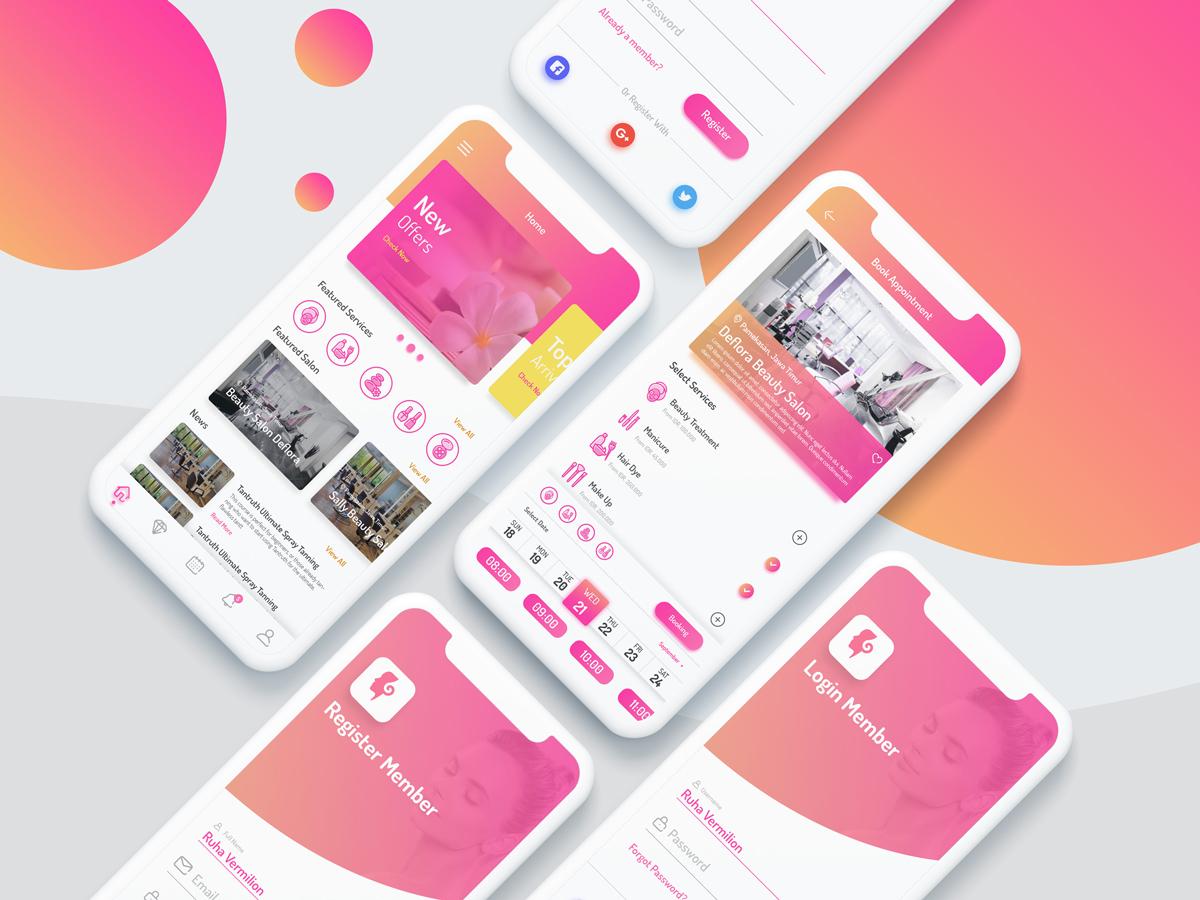 Salon App Booking Uplabs