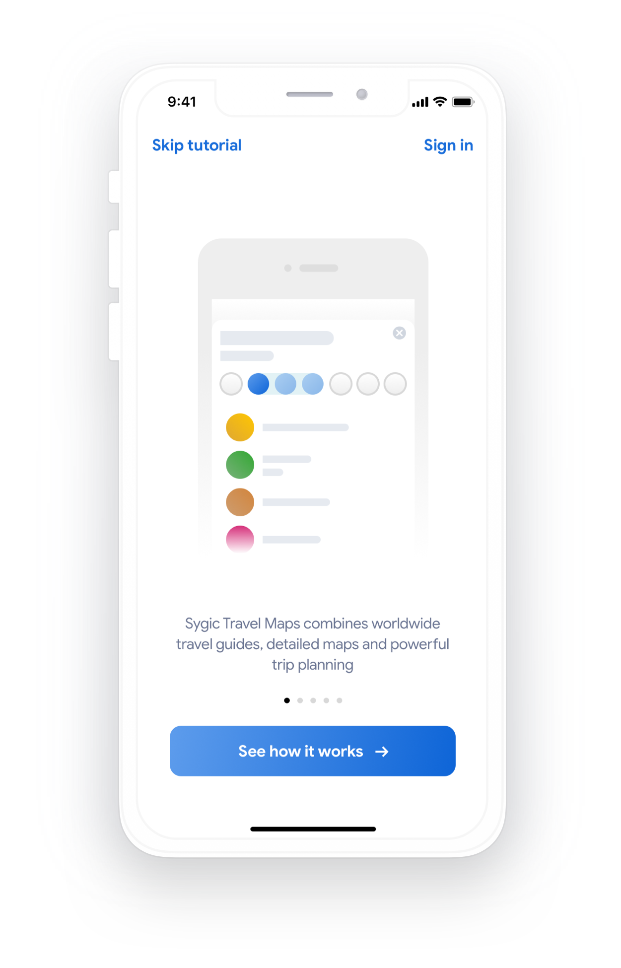 Sygic Travel App: Onboarding - UpLabs