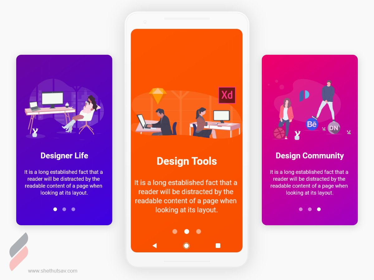 Splash Scree UI Design for Android Application - UpLabs