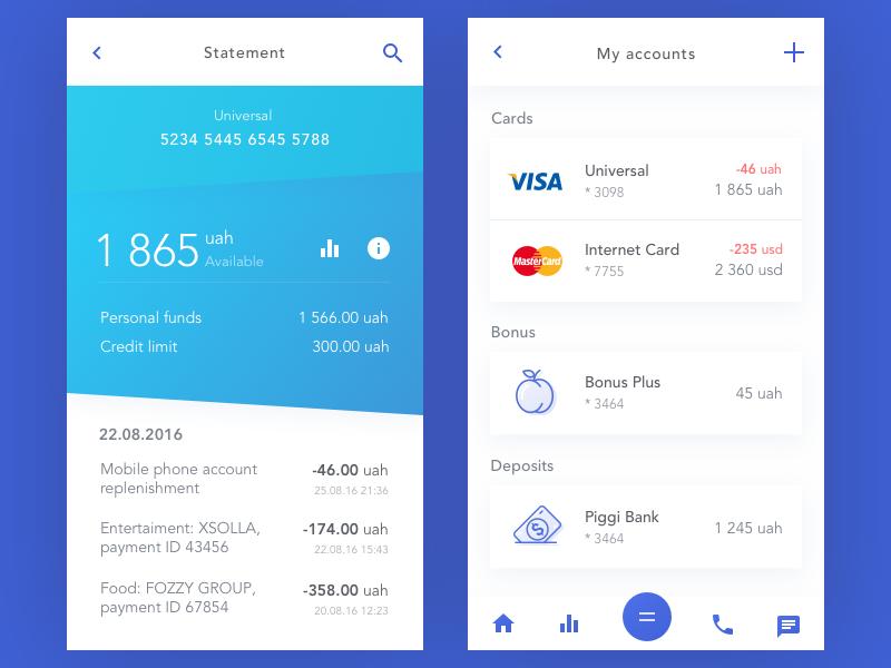 Bank account - Uplabs