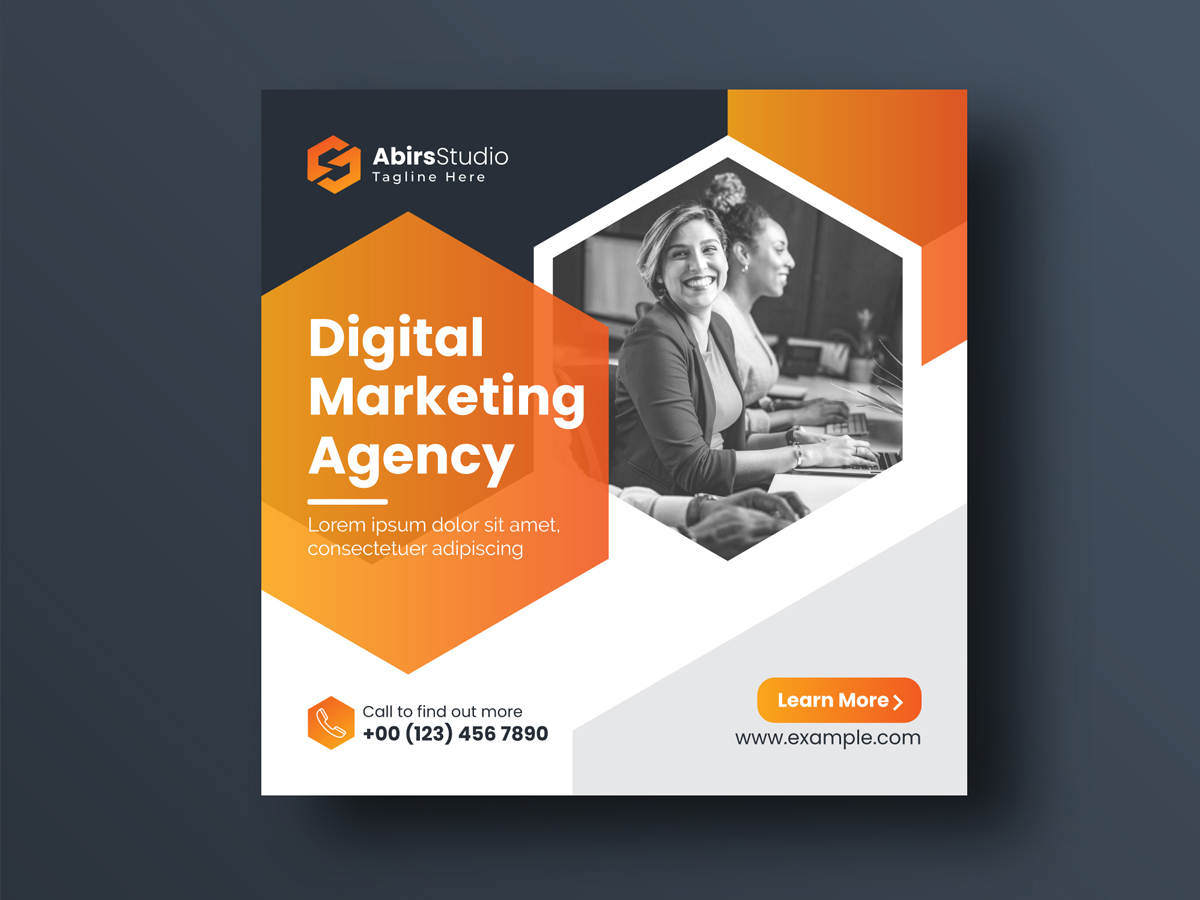 Digital Marketing Social Media Banner Or Square Flyer Premium Vector Template Search By Muzli