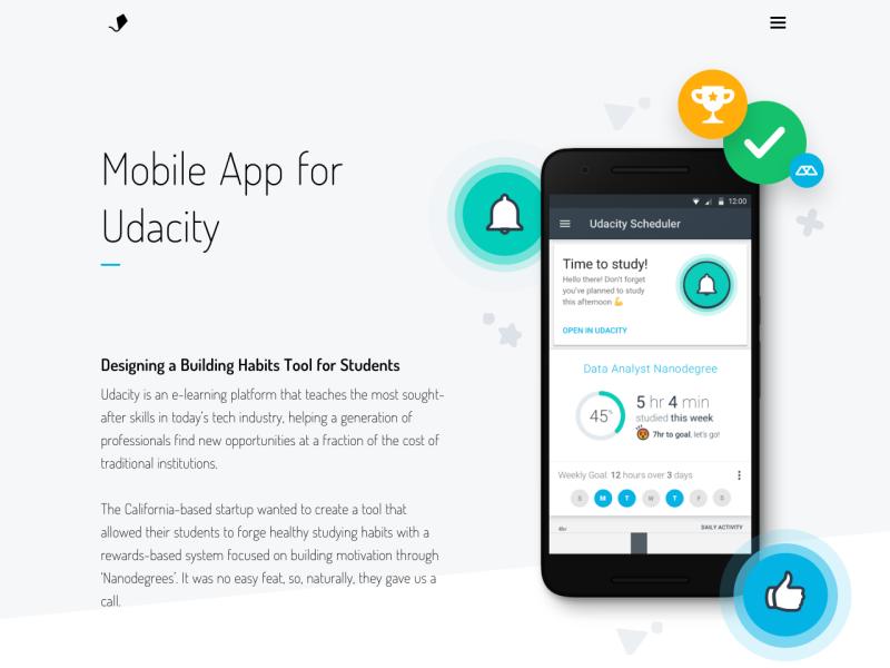 Udacity Landing Page - UpLabs