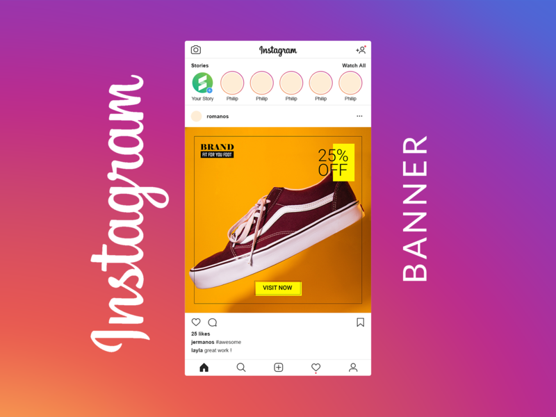 Social Media Banner Pack Schuhe Search By Muzli