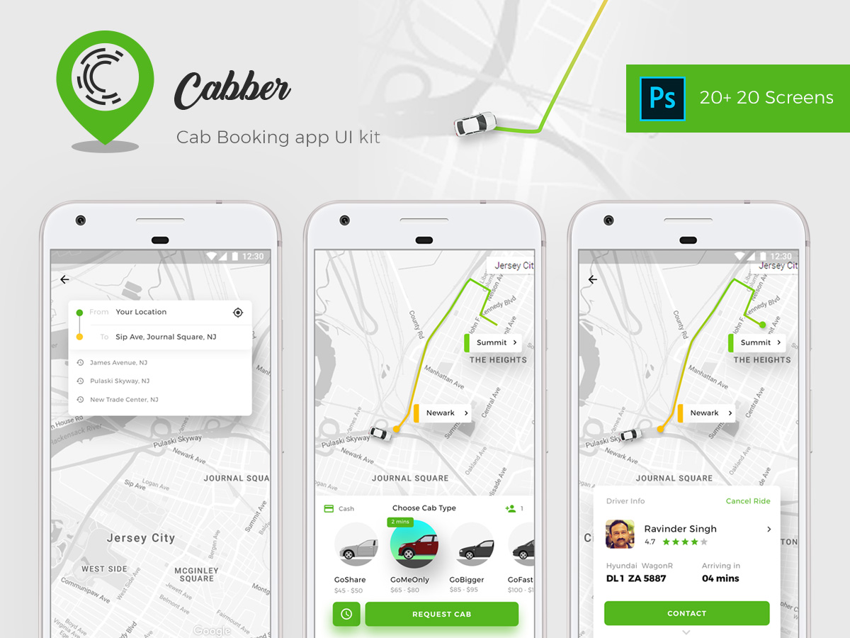 Cab Booking App for Both Rider and Driver | Cabber - UpLabs