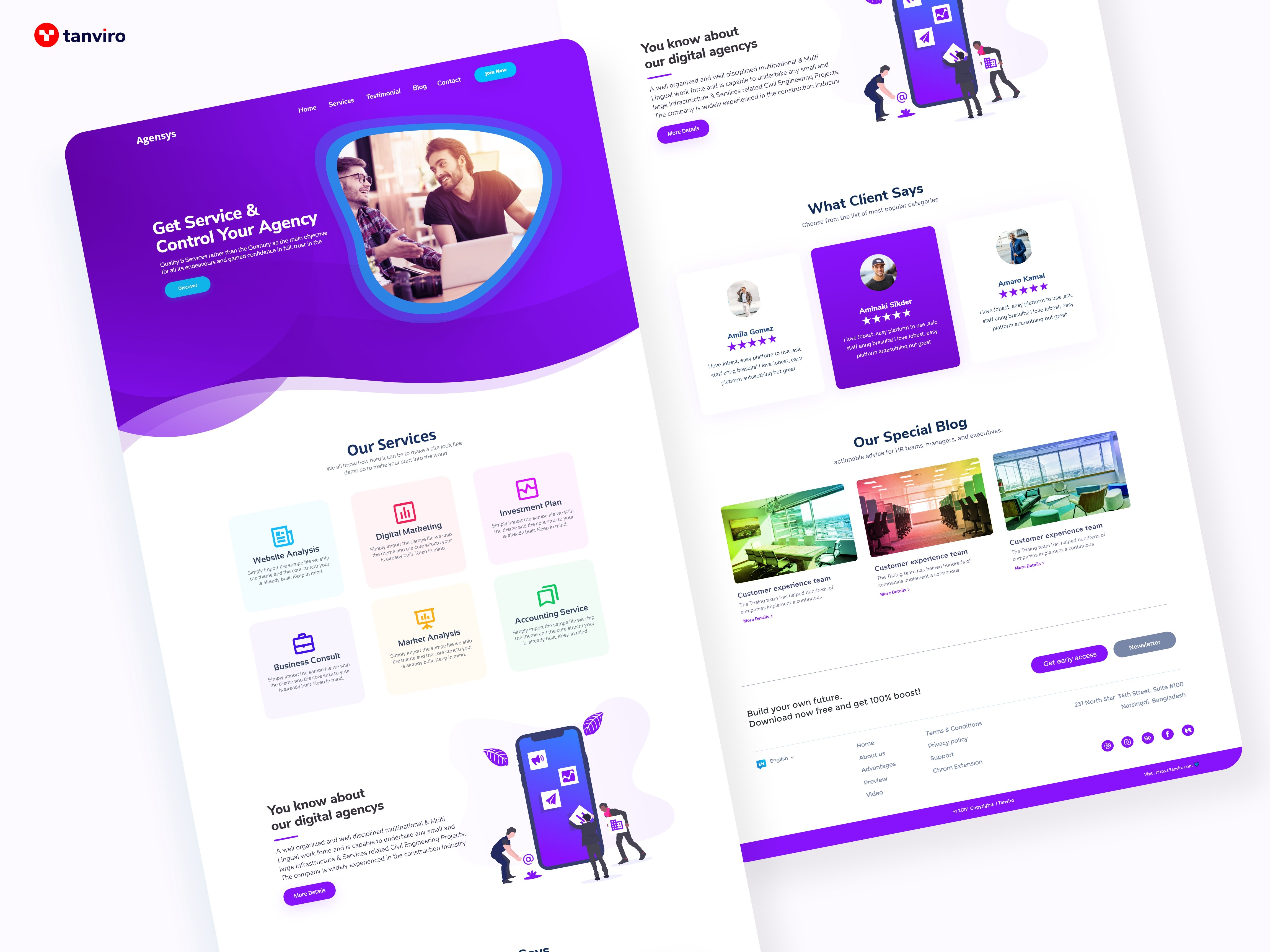 Digital Agency Landing Page Ui Design Agencys Uplabs