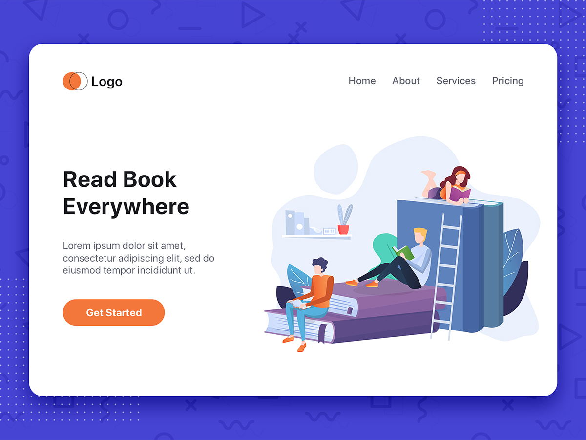 reading book vector illustration search by muzli reading book vector illustration