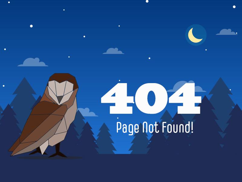 404 error page deisgn example #23: 404 error page