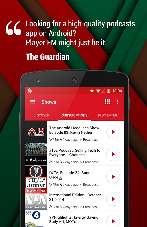 Player Fm Podcast App