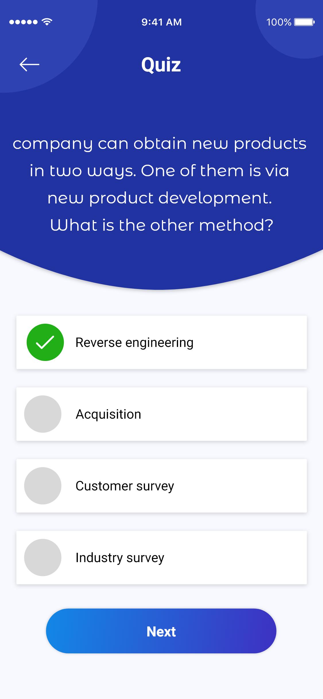 Quiz Application - UpLabs